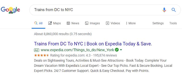 Google text ad