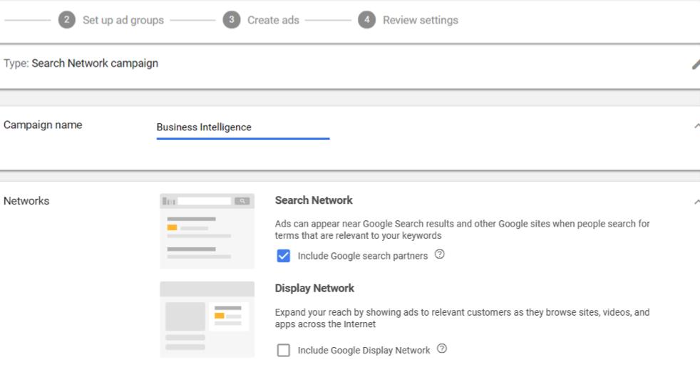 Search Network Campaign