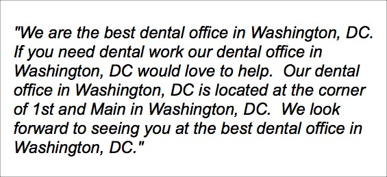 We are the best dental office in Washington, DC. If you need dental work our dental office in Washington, DC would love to help.