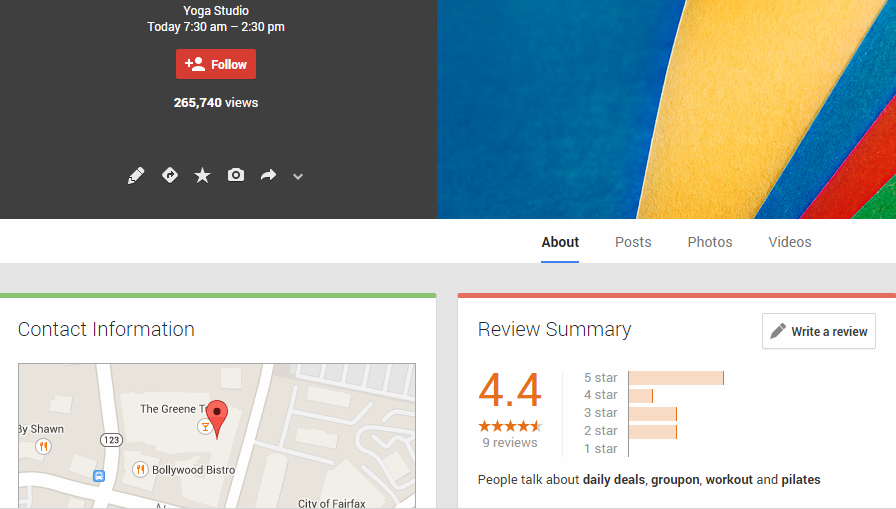 Google+ Local Review for Businesses