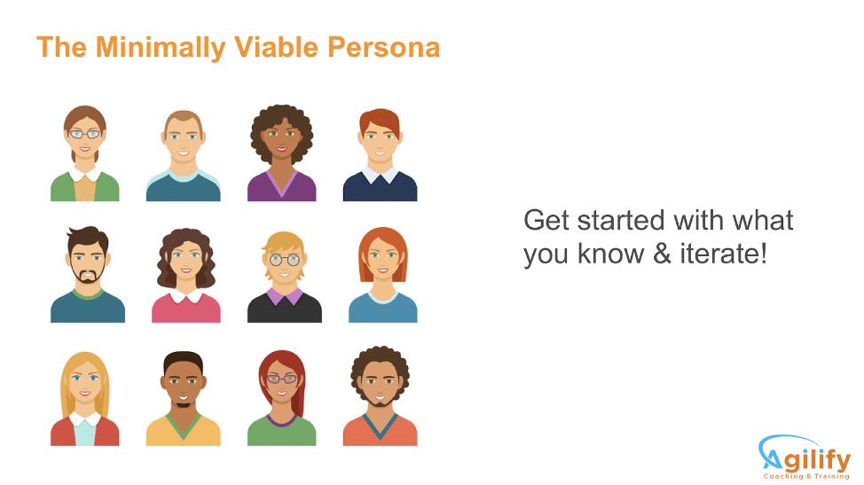 Minimally viable personas