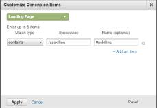 Customize Dimension