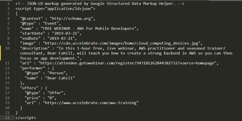 Structured Data Code