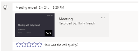 Use Stream to view Meeting Recordings and view Meeting Transcripts.