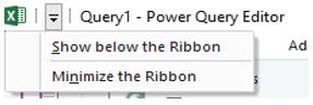 Power Query Editor
