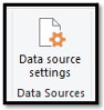 Use the Data source settings.
