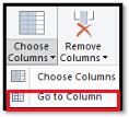 Go to Column button