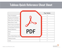 Tableau Quick Reference Cheat Sheet PDF