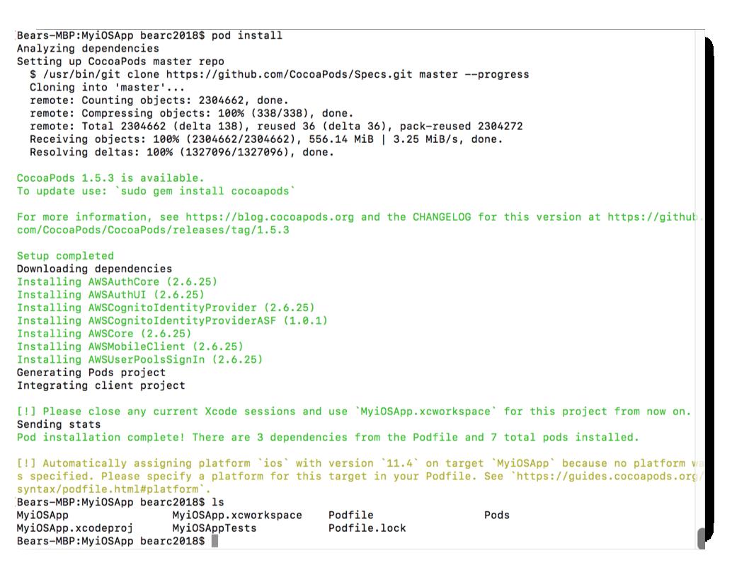 AWS Tutorial: Adding an AWS User Authentication to a Mobile App