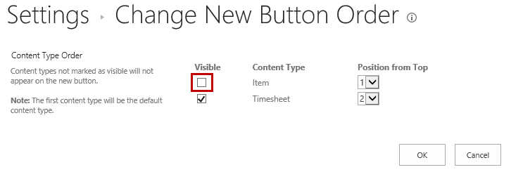 Settings > Change New Button Order