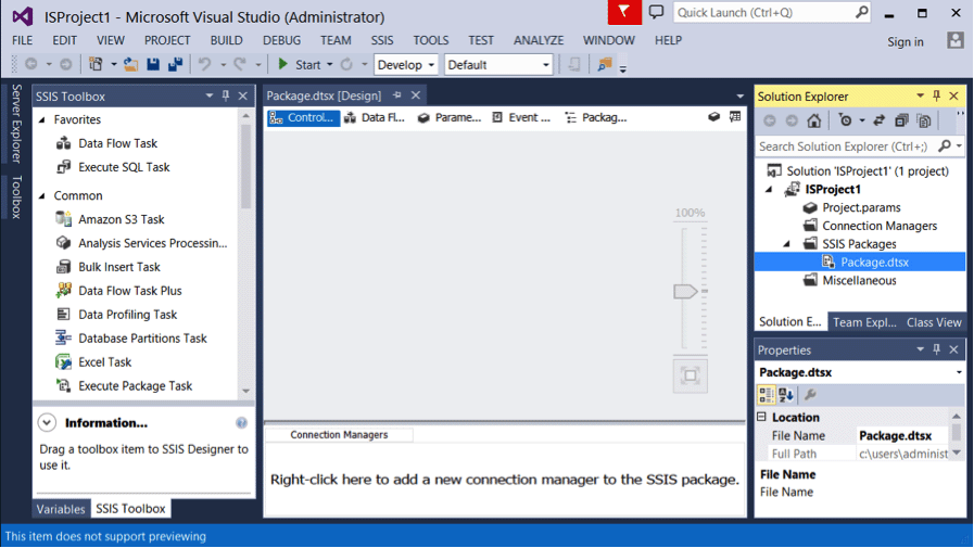SSIS 2016 Tutorial: SQL Server 2016 Integration Services Part 2