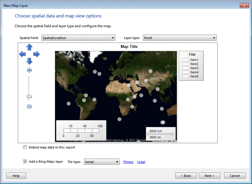 Figure 26: Adding a Bing Maps Layer