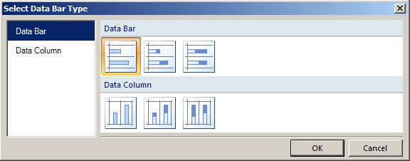 Figure 30: Select Data Bar Type Dialog Box