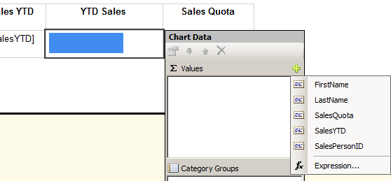 Figure 31: Chart Data Window