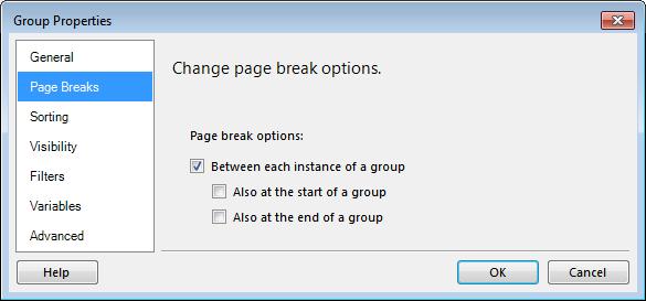 Figure 38: Group Properties