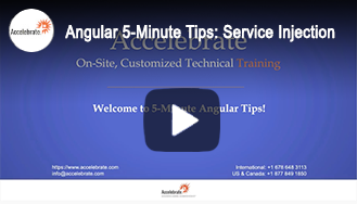 Angular 5-Minute Tips: Service Injection
