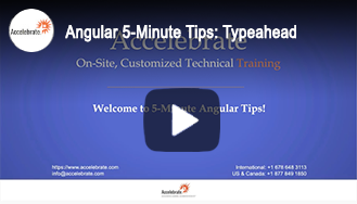Angular 5-Minute Tips: Typeahead