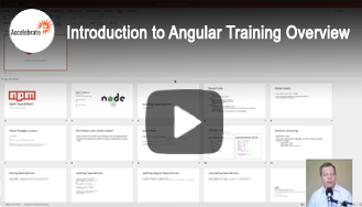 Introduction to Angular Training Overview