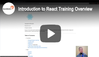 Introduction to React Using JavaScript/ECMAScript Training Overview