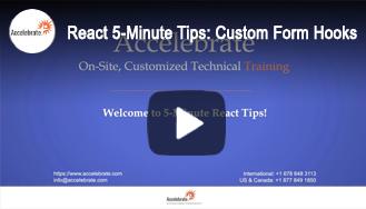 React 5-Minute Tips: React Custom Form Hooks