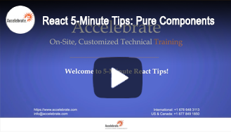 React 5-Minute Tips: React Pure Components
