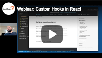 Webinar - Custom Hooks in React