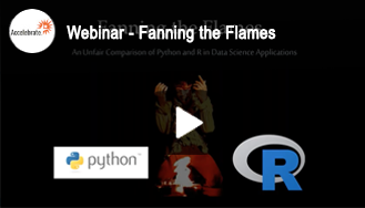 Webinar — Fanning the flames an unfair comparison of Python and R in Data Science