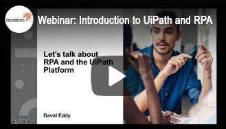 Webinar - RPA with UiPath